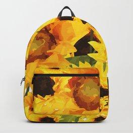 Wild yellow Sunflower Field Illustration Backpack
