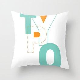 Typography Throw Pillow