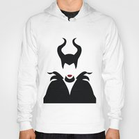 maleficent Hoodies featuring MALEFICENT by SaladInTheWind