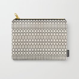 N79 - Farmhouse B&W Traditional Boho Moroccan Style Design. Carry-All Pouch