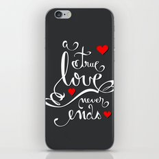 Valentine Love Calligraphy and Hearts V2 iPhone & iPod Skin