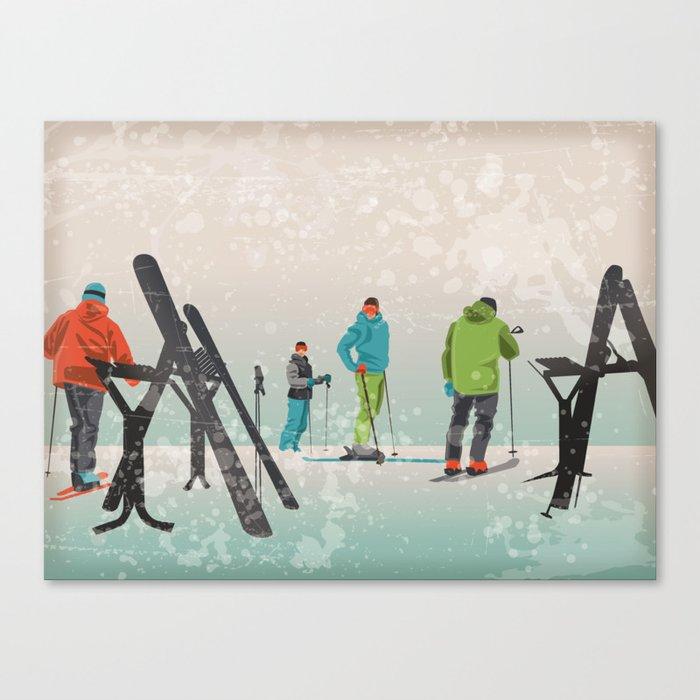 Skiers Summit Canvas Print