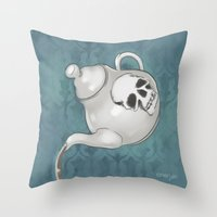 enerjax Throw Pillows featuring Johnlock Teatime by enerjax