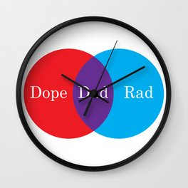 Dope Rad Dad Wall Clock