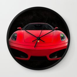 Italian Sports Car Wall Clock