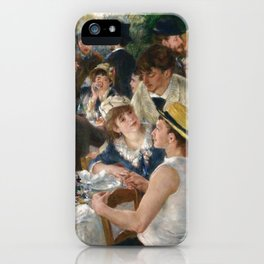 Auguste Renoir  -  Luncheon Of The Boating Party iPhone Case