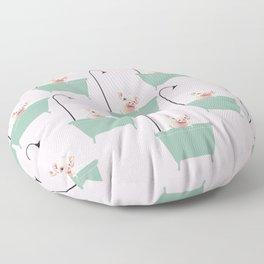 Baby Pink Pig Enjoying Bubble Bath Floor Pillow