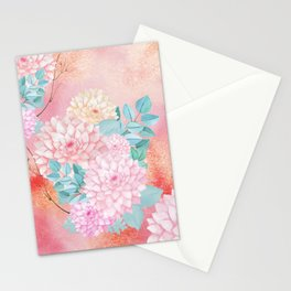 Gold dahlia bouquet #society6 Stationery Cards