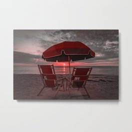 Red Umbrella OBX Sunrise Metal Print
