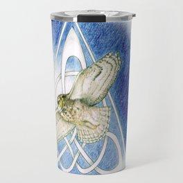 Great Horned Owl soft framed Travel Mug