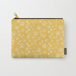 Pawprints Yellow Carry-All Pouch