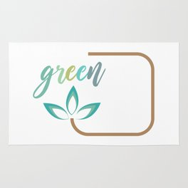 Go green- Respect for nature Rug