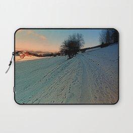 Hiking through winter wonderland   landscape photography Laptop Sleeve