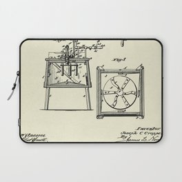 Washing Machine-1887 Laptop Sleeve