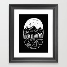 Let's Get Lost III Framed Art Print