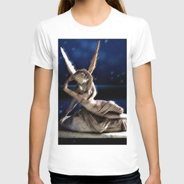 Psyche and Angel Amid the Stars Painting by Jéanpaul Ferro T-shirt