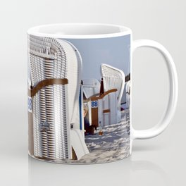 White Beach Chairs on the Isle of Ruegen Coffee Mug