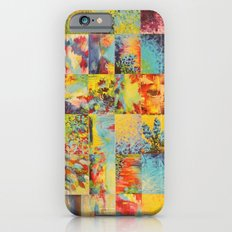 COLORFUL INDECISION 1 - Bold Bright Beautiful Abstract Acrylic Painting Collection Nature Rainbow iPhone 6s Slim Case