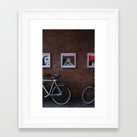 running Framed Art Prints featuring Running by Francesca Vincis