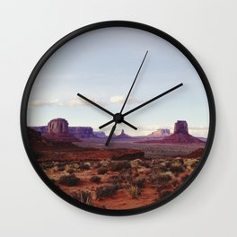 Monument Valley View Wall Clock