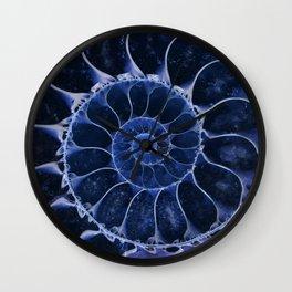 Blue fossil Wall Clock