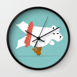 You Lift Me Up - Polar bear doing ballet Wall Clock