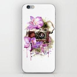 Camera in flowers iPhone Skin