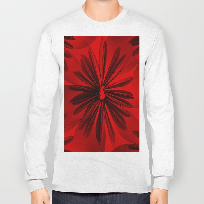 Red Origami Flowers #decor #society6 Long Sleeve T-shirt
