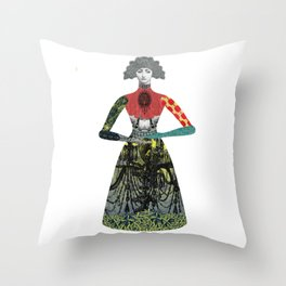 Portrait of a lady: Florence Throw Pillow