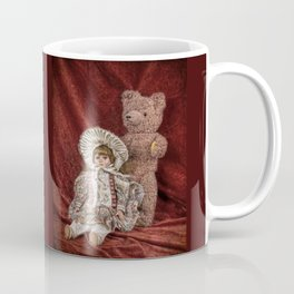 Memories of Childhood Teddy Bear and Doll Coffee Mug