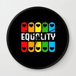 LGBT Colorful Equality Rainbow Gay Lesbian Wall Clock