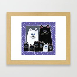 Kitty Family Portrait Framed Art Print