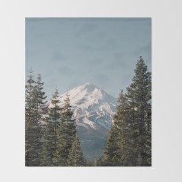 Mt Shasta Morning Throw Blanket