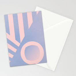 Pattern colors 2016 rose quarz and serenity blue Stationery Cards