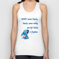 lilo and stitch Tank Tops featuring Lilo & Stitch - Ohana Quote by MarcoMellark