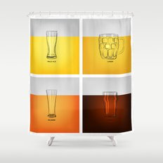 Golden Nectar Shower Curtain
