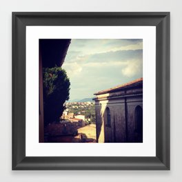 Rainbow in Minturno Framed Art Print