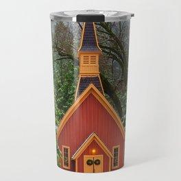 Christmas At Yosemite Chapel Travel Mug