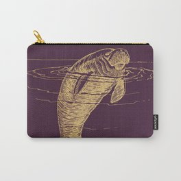 Gold manatee on winter bloom Carry-All Pouch