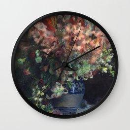 Auguste Renoir - Gladioli In A Vase Wall Clock