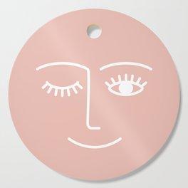 Wink / Pink Cutting Board