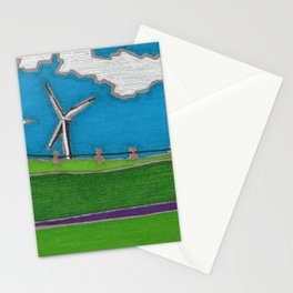 Windmill by Mali Vargas Stationery Cards
