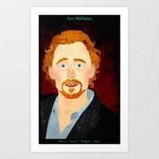 Portrait: Tom Hiddleston Art Print