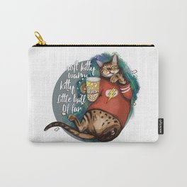 Soft kitty warm kitty little ball of fur galaxy cat Carry-All Pouch