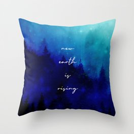 Sparkling New Earth Throw Pillow