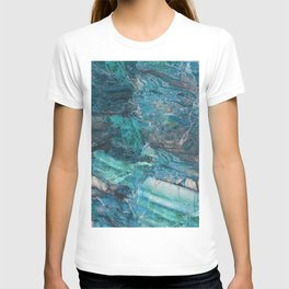 Siena turchese - blue marble T-shirt