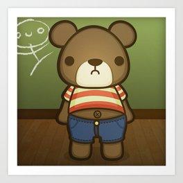 Artie the Grumpy Bear Art Print