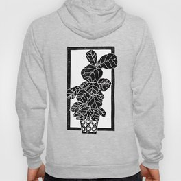Fiddle Leaf Fig Block Print Hoody