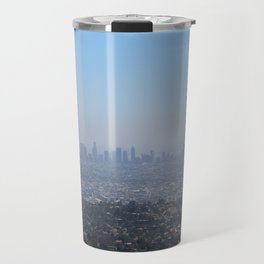 LA Skyline, View from Griffith Park Travel Mug