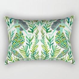 Kelp Forest Mermaid – Green Palette Rectangular Pillow
